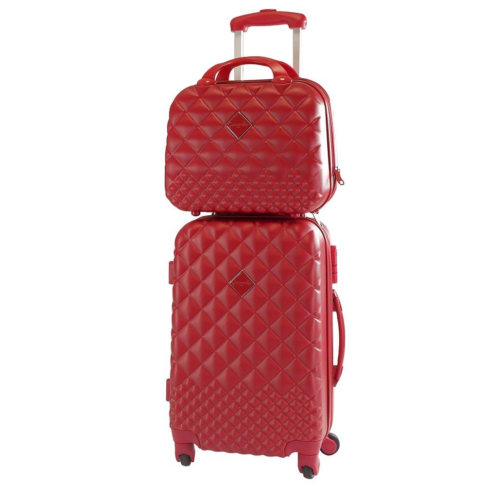 Set valigeria Trolley + Vanity case - rosso - Camomilla Milano