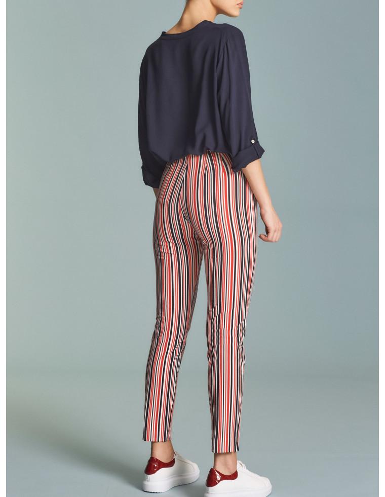 Pantaloni capri righe Ragno