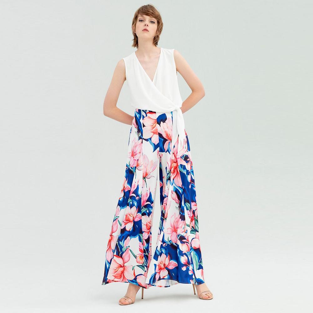 Pantaloni floreali scampanati - marseta SHOP - Fracomina