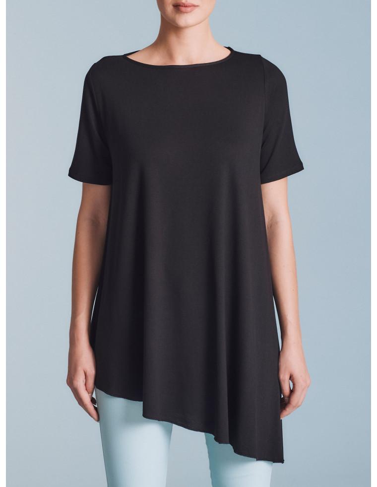 T-shirt asimettrica con maniche corte - by RAGNO