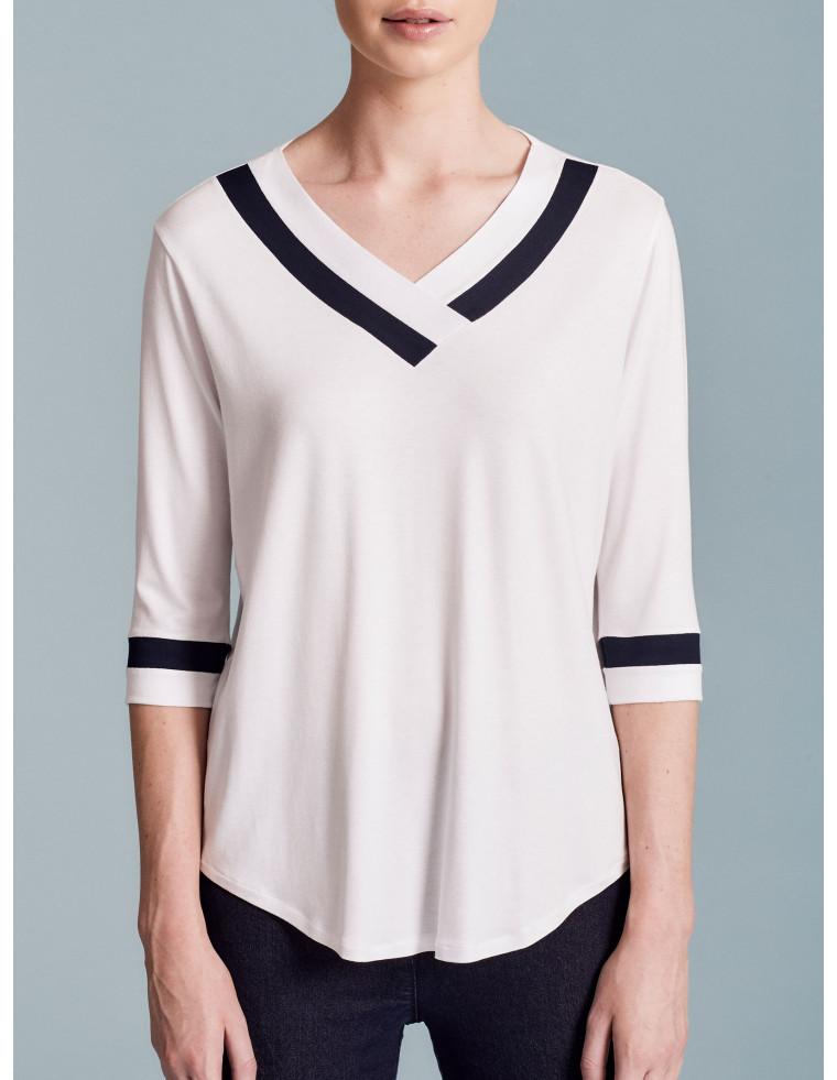 T-shirt scollo a V by Ragno