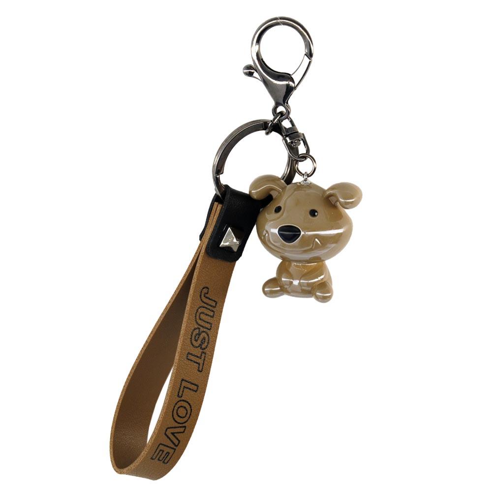 Portachiavi cute dog marrone