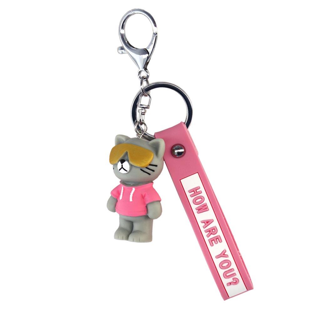 Portachiavi cool cat rosa