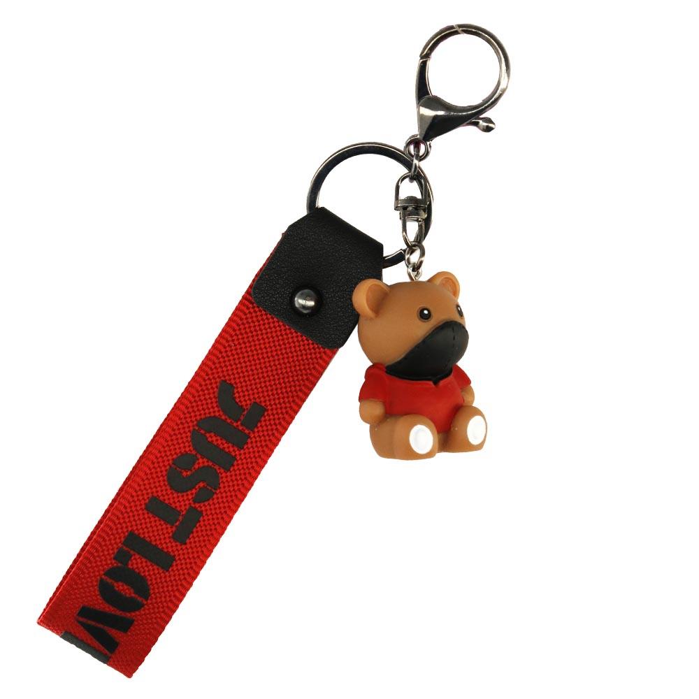 Portachiavi cool bear rosso