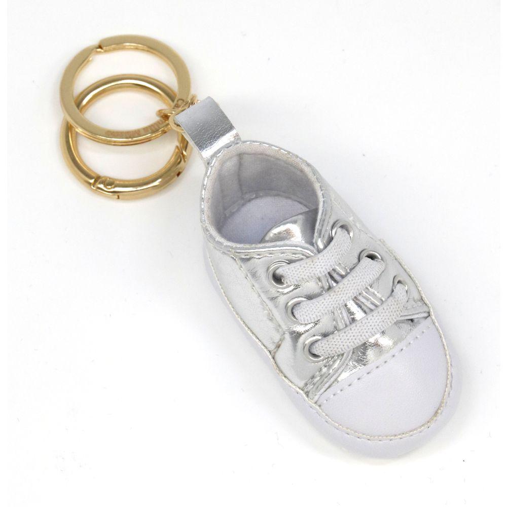 Portachiavi baby sneker argento