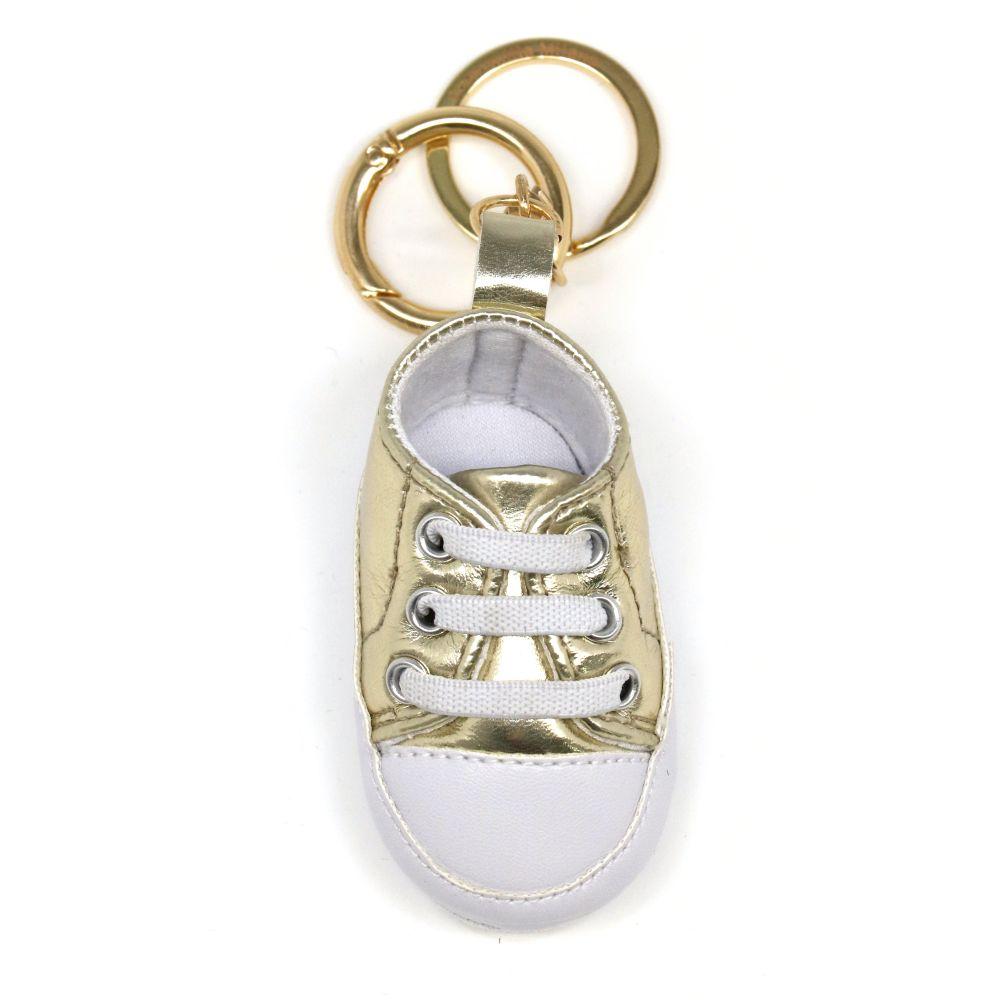 Portachiavi baby sneker oro