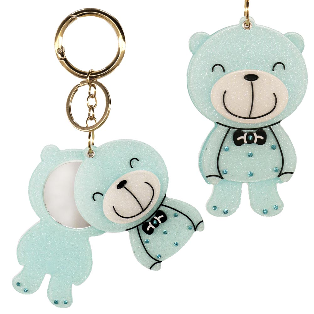 Portachiavi teddy bear azzurro