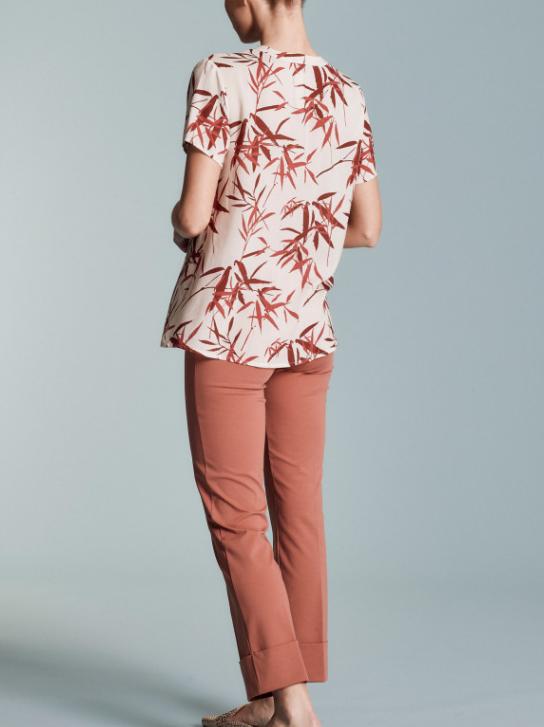 Camicia a manica corta con fantasia foglie - by Ragno