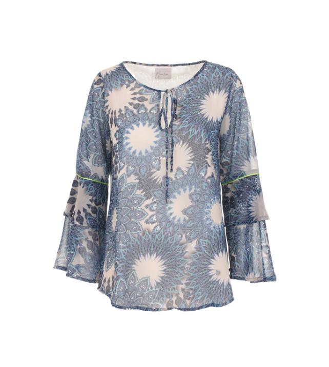 Camicia con fantasia floreale blu - By Maison Espin