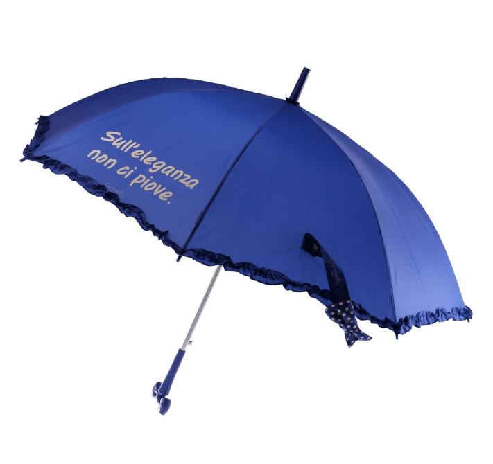 Ombrello automatico con fiocco blu - Camomilla Milano