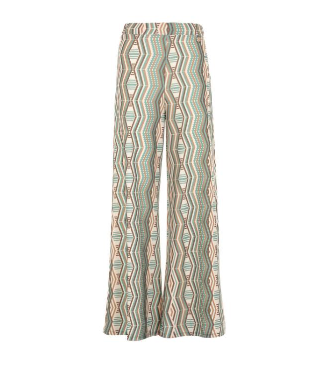 Pantalone palazzo con fantasia geometrica - by Maison Espin