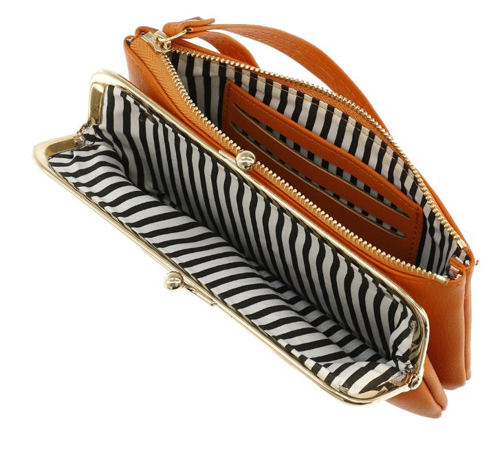 Portafoglio clutch e zip - Lulu - Arancione