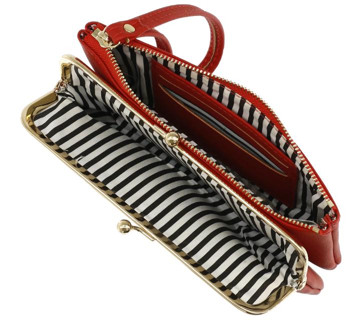 Portafoglio clutch e zip - Lulu - rosso