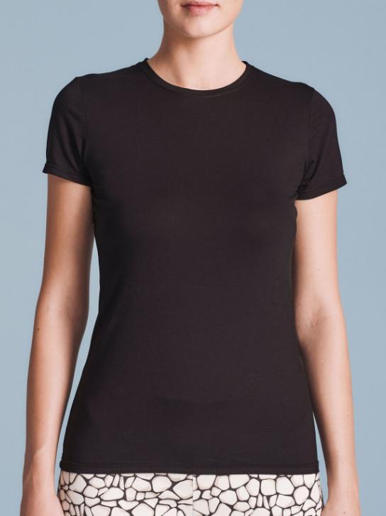 T-shirt basic nera a maniche corte - by Ragno