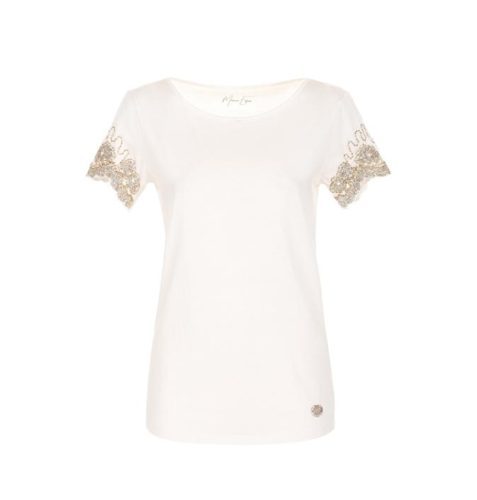 T-shirt girocollo con dettagli - By Maison Espin