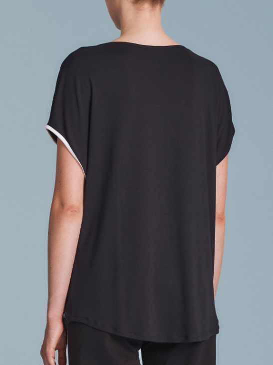 T-shirt in viscosa double color - by Ragno