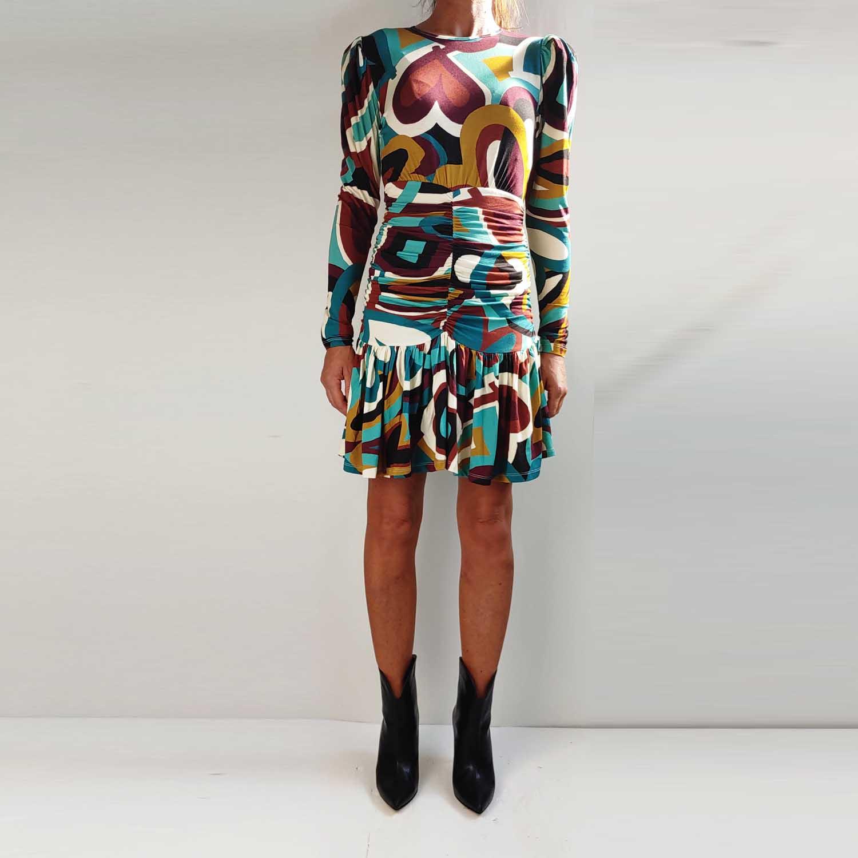 Vestito aderente con maniche lunghe - by Denny Rose