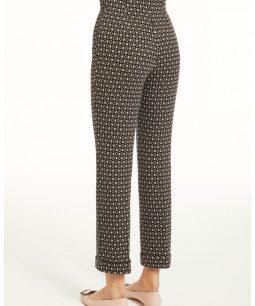 Pantaloni mini flair con fantasia geometrica - by RAGNO
