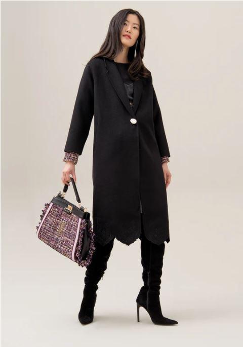 Cappotto regular in tessuto misto lana Fracomina