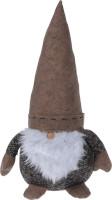 Fermaporta gnomo marrone natale 45cm