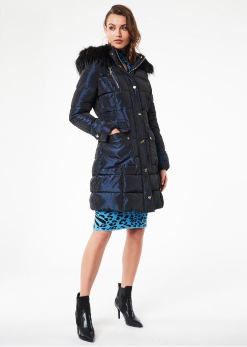 Piumino lungo con cappuccio Denny Rose Fashion